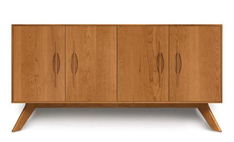 Copeland Furniture - Audrey 4 Door Buffet - Cherry - 6-AUD-40