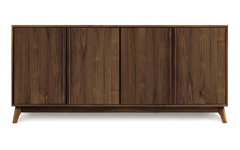 Copeland Furniture - Catalina 4 Door Buffet - Walnut - 6-CAL-40-04