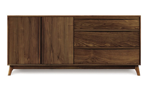 Copeland Furniture - Catalina 3 Drawer 2 Door Buffet - Walnut - 6-CAL-51-04