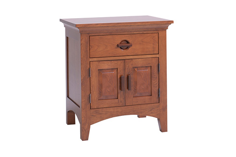 Country View Woodworking, Ltd - One Drawer, Two Door Nightstand - 100-502