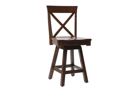 Country View Woodworking, Ltd - Side Swivel Pub Stool - DBS-06-24