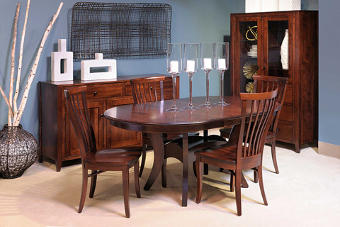 Country View Woodworking, Ltd - Oval Dining Table - TR42602-TR56