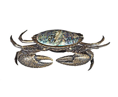Curate by Artistica Metal Design - Mud Crab with Blue Paua Inlay - AC13-013