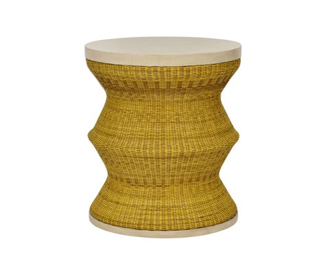 Curate by Artistica Metal Design - Whimsy Drum Table in Yellow - C403-234