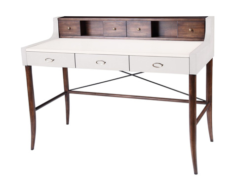 Curate by Artistica Metal Design - Worn Ivory Canvas Desk - C408-350