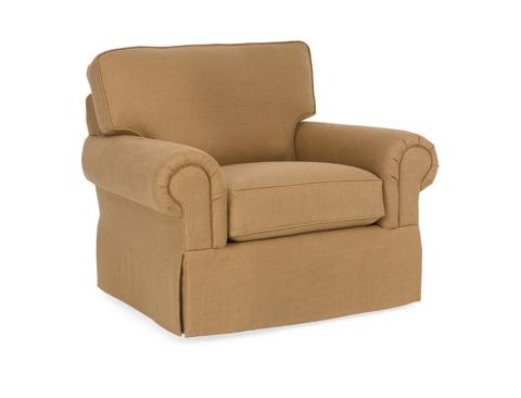 C.R. Laine Furniture - Custom Design Roll Arm Panel Chair - CD8705R