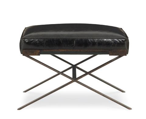 C.R. Laine Furniture - Dasha Small Ottoman w/Metal Base - L9678
