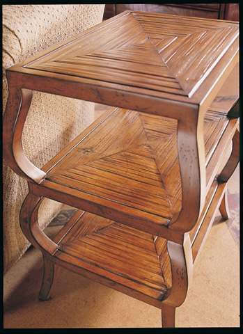 CTH-Sherrill Occasional - Bamboo Tiered Chairside Table - 821-975