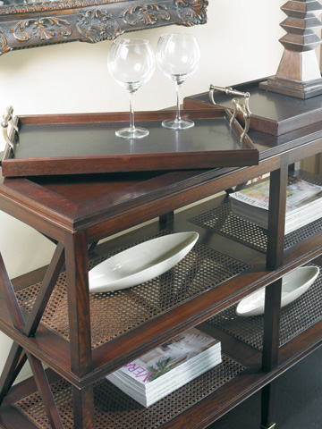 CTH-Sherrill Occasional - South Hampton Tiered Tray Console - 330-770