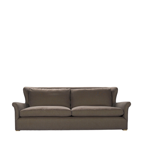 Curations Limited - Brown Linen Winslow Sofa - 7842.1107.A008