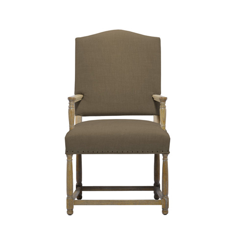 Curations Limited - Brown Eduard Arm Chair - 8826.0018.A008