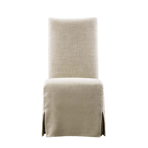 Curations Limited - Beige Flandia Slip Covered Chair - 8826.1002.A015