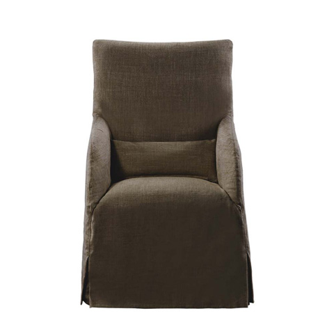 Curations Limited - Brown Flandia Arm Chair - 8826.1004.A008