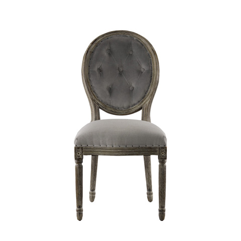 Curations Limited - Vintage Louis Button Side Chair - 8827.0014