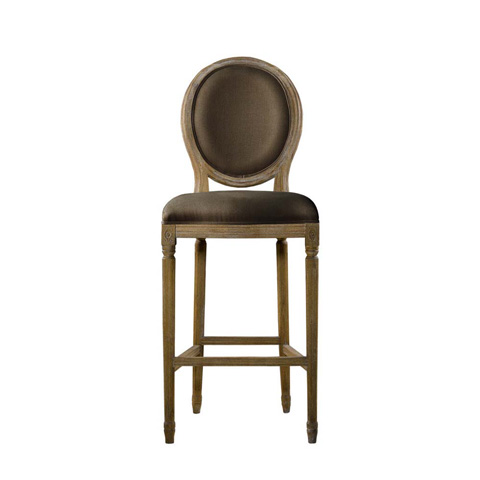 Curations Limited - Brown Vintage Louis Back Counter Stool - 8828.3004.A008