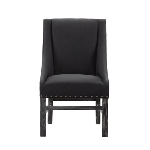 Curations Limited - New Trestle Black Chair - 8826.0013