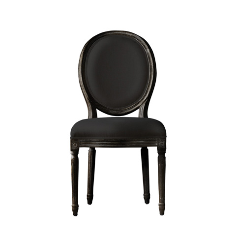 Curations Limited - Vintage Louis Antique Black Side Chair - 8827.0005