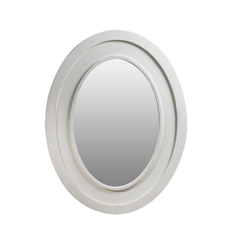 Curations Limited - Vintage White Olmetta Mirror - 9100.2170