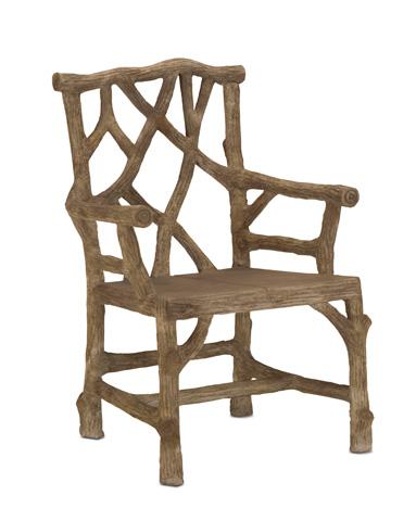 Currey & Company - Woodland Arm Chair - 2706