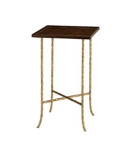 Currey & Company - Gilt Twist Square Table - 4054
