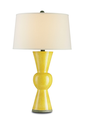 Currey & Company - Yellow Upbeat Table Lamp - 6382