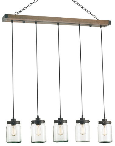Currey & Company - Firefly Rectangular Chandelier - 9578