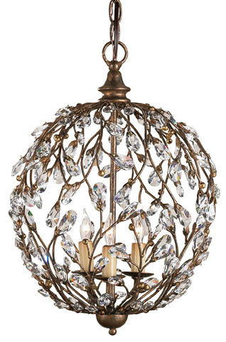 Currey & Company - Crystal Bud Sphere Chandelier - 9652