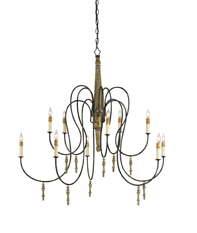 Currey & Company - Rouleau Chandelier - 9727