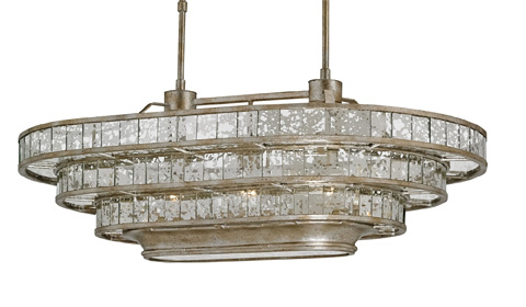 Currey & Company - Frappé Oval Chandelier - 9747
