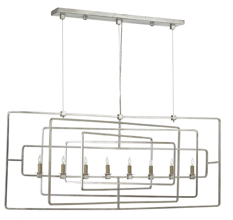 Currey & Company - Metro Rectangular Chandelier - 9836