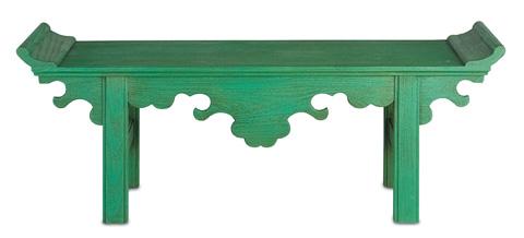 Currey & Company - Jade Bench - 3261