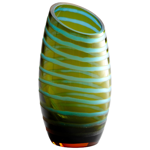 Cyan Designs - Large Angle Cut Chiseled Vase - 00104