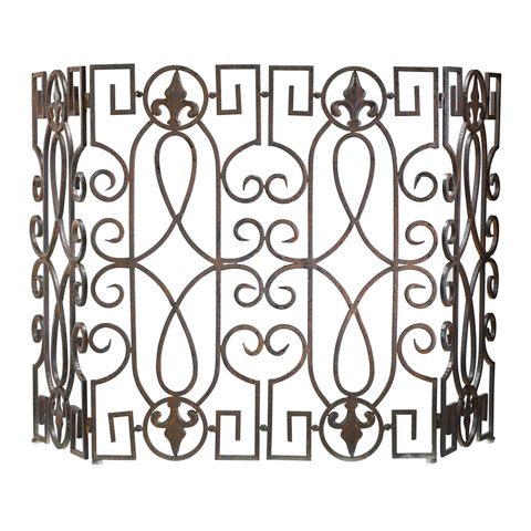 Cyan Designs - Wrought Iron Fire Screen - 00769