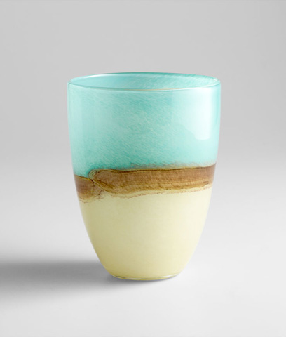 Cyan Designs - Medium Turquoise Earth Vase - 05873