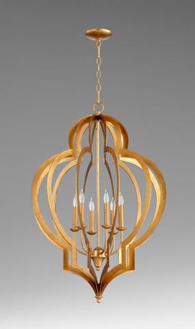 Cyan Designs - Vertigo Gold Leaf Chandelier - 05974
