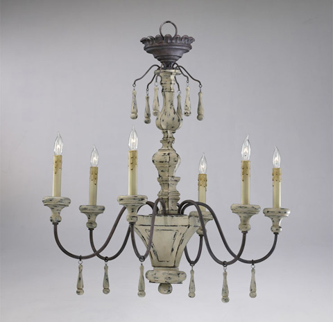 Cyan Designs - Provence Chandelier - 6513-6-43