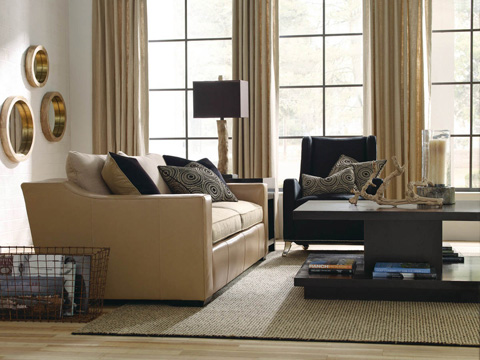Caracole - Right Side of The Track Sofa - UPH-SOFTRA-03B