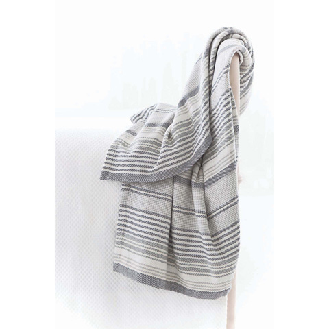 Dash & Albert Rug Company - Gradation Ticking Woven Cotton Throw - RDA285-THR