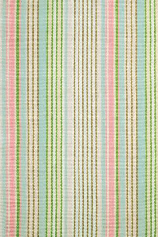 Dash & Albert Rug Company - Ana Aqua Ticking Cotton Woven 8x10 Rug - RDA076-810