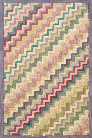Dash & Albert Rug Company - Steps Wool Micro Hooked 8x10 Rug - RDA090-810