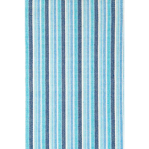 Dash & Albert Rug Company - Bluemarine Ticking Cotton Woven 8x10 Rug - RDA156-810