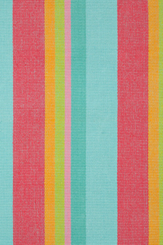 Dash & Albert Rug Company - Tiki Stripe Woven Cotton 8x10 Rug - RDA200-810