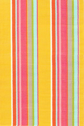 Dash & Albert Rug Company - Happy Yellow Stripe 8.5x11 Rug - RDB218-8511