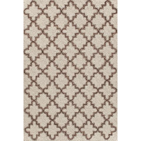 Dash & Albert Rug Company - Plain Tin Oatmeal Wool Micro Hooked Rug - RDA296-58