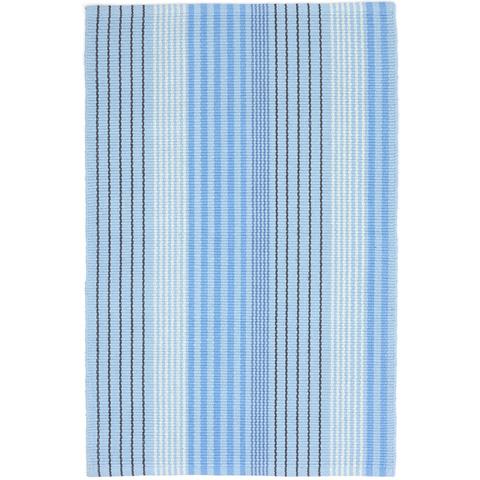 Dash & Albert Rug Company - Blue Sky Ticking Woven Cotton Rug - RDA440-810