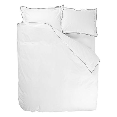 Designers Guild - Astor Charcoal/Dove Queen Duvet Cover - BEDDG0756