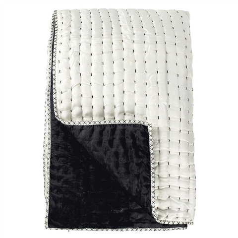 Designers Guild - Chenevard Black and White Large Quilt - BSPR002/05