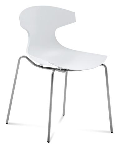 Domitalia - Echo Stacking Side Chair - ECHO.S.00F.AE.PBI