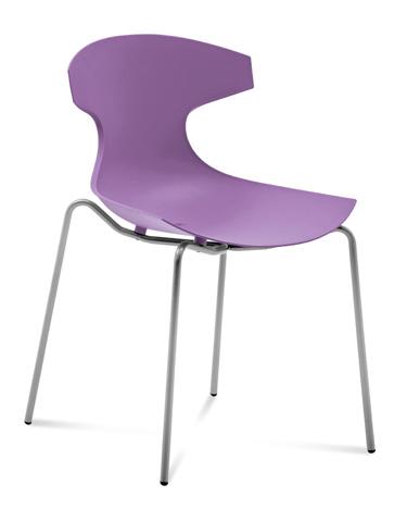 Domitalia - Echo Stacking Side Chair - ECHO.S.00F.AE.PLI