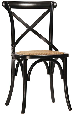 Dovetail Furniture - Gaston Antique Black Dining Chair - DOV728